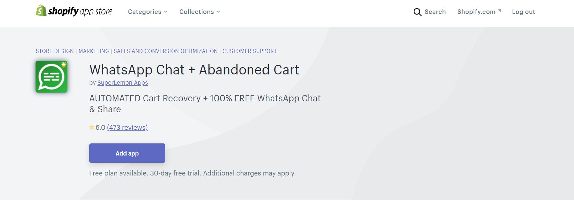 WhatsApp Chat + Abandoned Cart