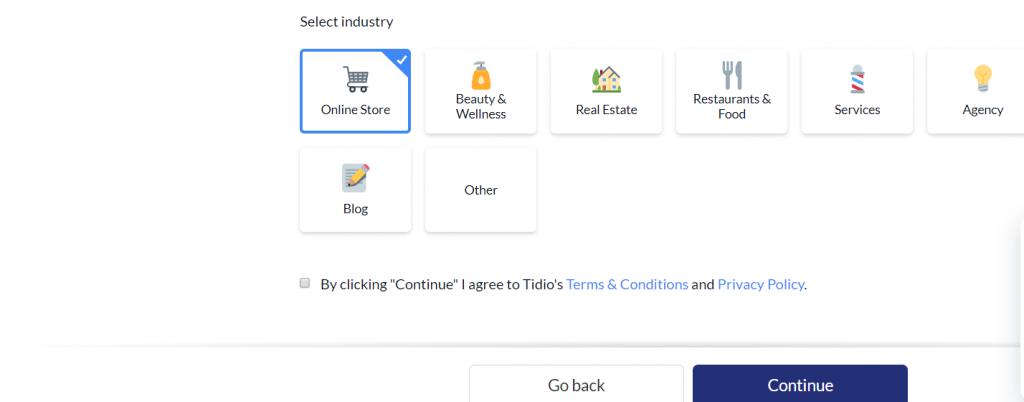 サイトの種類選択