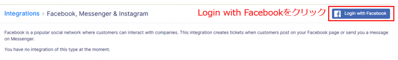 Login with Facebookをクリック