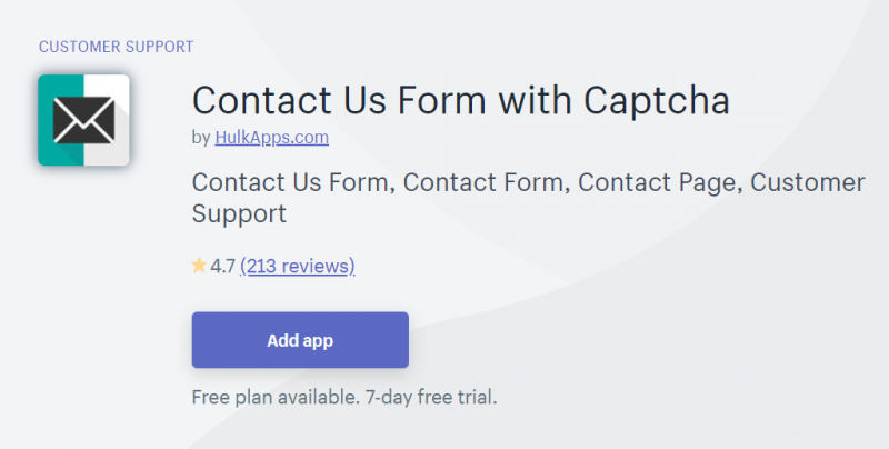 Contact Us Form with Captcha