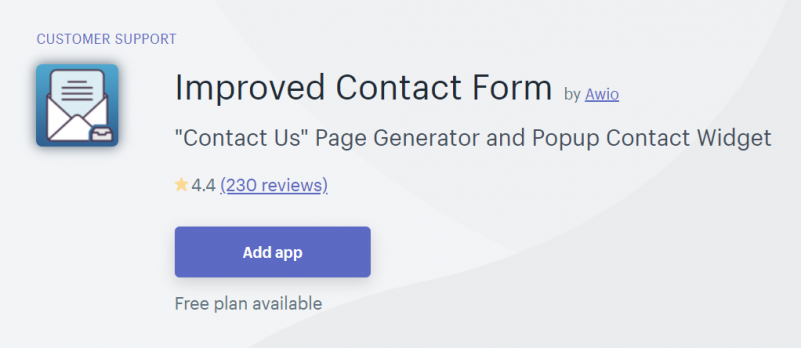 Improved Contact Form